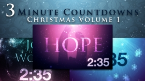 3-Minute Countdowns: Christmas Vol. 1
