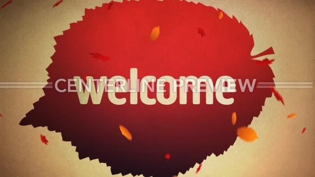 Falling Leaves Welcome Still // Centerline New Media