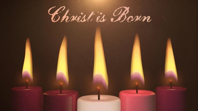 12 x 2 Advent Candles  Purple Pink Red amp White