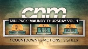 Mini-Pack: Maundy Thursday Vol. 1