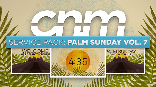 Textured Palm Sunday