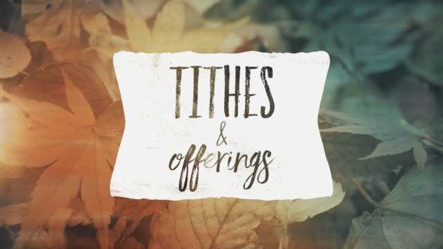 fallen leaves tithes offerings centerline new media
