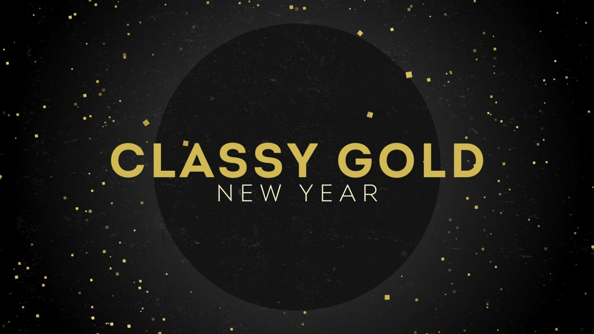 Classy Gold New Year