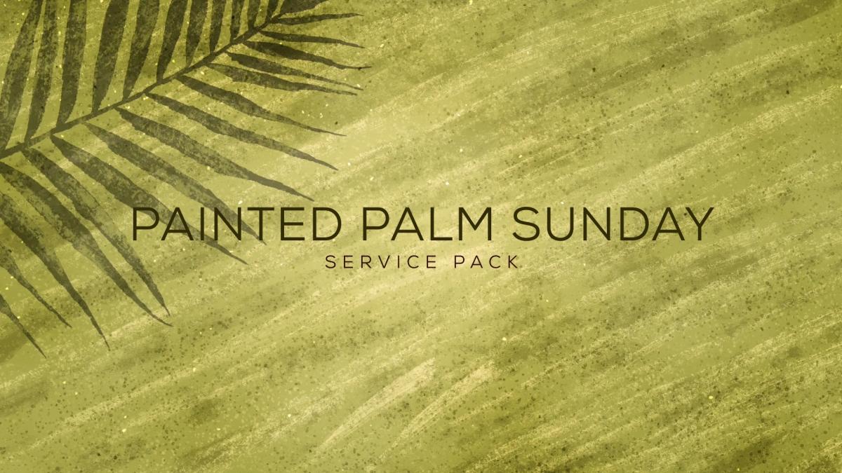 Painted Palm Sunday