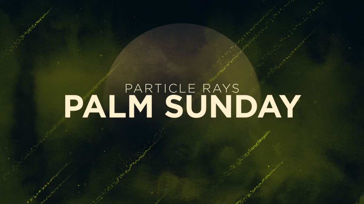 Particle Rays Palm Sunday