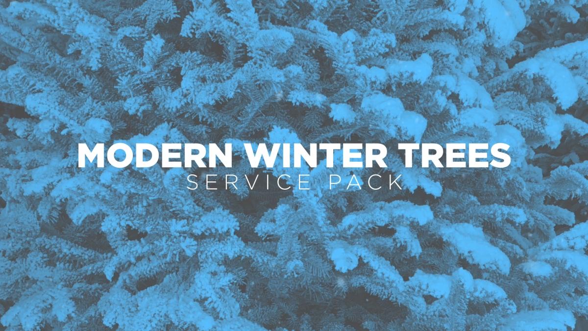 Modern Winter Trees