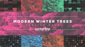 Modern Winter Trees Service Pack